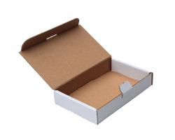 Poštová krabica 165x120x25 mm, do schránok, biela